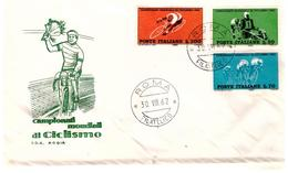 Fdc Rodia: MONDIALI CICLISMO 1962 No Viaggiata; AF_Roma - F.D.C.