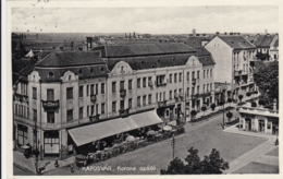 AK - Ungarn - KAPOSVAR - Strassenansicht Korona Szálló Mit Hotel Restaurant Korona 1932 - Ungarn