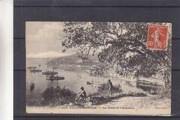 France - Carte Postale De 1913 - Oblit Marle - Vue De Villefranche - La Rade Et L'Escadre - Altri Comuni