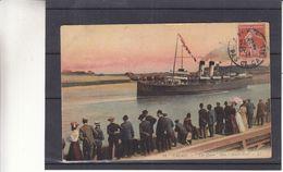 """France - Carte Postale De 1912 - Oblit Calais - Exp Vers La Madelaine - Vue Du Bateau """" The Queen """" Dans L'avant Port - Calais"""