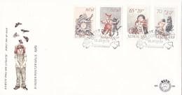 Nederland - FDC - Kinderzegels - Peter Vos - Koolmees/great Tit/Kohlmeise/mésange Charbonnière - NVPH E206 - Zangvogels