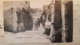 Mogador MAROC - CPA RARE - SOUK OAKA - ANIMEE - GASTON FOUYSSAT EDITEUR 1916 - Otros