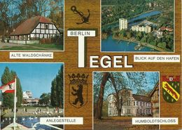 2 AKs Berlin Tegel Mehrbild 4+8  Bilder Wappen Farbfotos # - Tegel