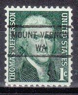 USA Precancel Vorausentwertung Preo, Locals Washington, Mount Vernon 846 - Vereinigte Staaten