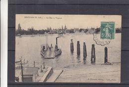 France - Carte Postale De 1911 - Oblit Convoyeur Chaudebeg...... ?  - Exp Vers La Madelaine - Le Bac à Vapeur - Duclair