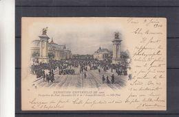 France - Carte Postale De 1900 - Oblit Paris Av De L'Opéra  - Exp Vers Liège -vue Du Pont Alexandre III Et Av Nicolas II - Mostre