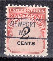 USA Precancel Vorausentwertung Preo, Locals Washington, Newpot 841 (b1) - Vereinigte Staaten