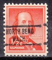 USA Precancel Vorausentwertung Preo, Locals Washington, North Bend 734 - Vereinigte Staaten