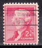 USA Precancel Vorausentwertung Preo, Locals Washington, North Bonneville 809 - Vereinigte Staaten