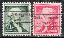 USA Precancel Vorausentwertung Preo, Locals Washington, North Bonneville 809, 2 Diff. - Vereinigte Staaten
