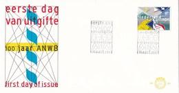 Nederland- FDC - 100 Jaar ANWB - Algemene Nederlandse Wielrijders Bond - NVPH E207 - Wielrennen