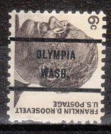 USA Precancel Vorausentwertung Preo, Bureau Washington, Olympia 1284-71, Perf. Not Pefect - Vereinigte Staaten
