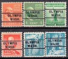USA Precancel Vorausentwertung Preo, Locals Washington, Olympia 261, 6 Diff. - Vereinigte Staaten