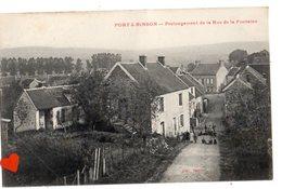00023-LE-51-PORT-à-BINSON-Prolongement De La Rue De La Fontaine----------animée--cachet Ambulant De : CHALONS SUR MARNE - France