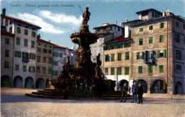 Trento - Piazza Grande Colla Fontana (12321) * 12. 4. 1918 - Trento