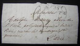 Choléra à Meaux En 1832 Description Des Symptômes Et Traitements D'un Malade Dans Une Lettre Pour  L'École Polytechnique - Manuscripts