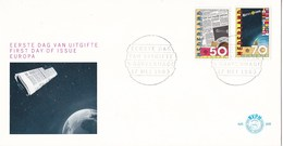 Nederland - FDC - Europa-CEPT 1983, Communicatie - Krantenpagina/Europese Communicatie Satelliet ECS - NVPH E209 - 1983