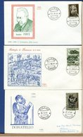 ITALIA - FDC 1966 - FDC ROSSETTI - BENEDETTO CROCE - BEZZECCA - DONATELLO - 6. 1946-.. Repubblica