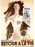 Thème Général De Gaulle - CP Avec Flamme Paris 08 Du 8 Mai 1985 - X 12 - De Gaulle (Generale)