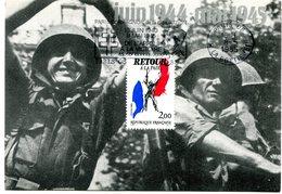 Thème Général De Gaulle - CP Avec Flamme Paris 08 Du 8 Mai 1985 - X 14 - De Gaulle (Generale)