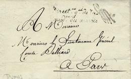 """6 Oct. 1814 -lettre En Franchise """" Direct.ion Gle De La / Liquid On Des Armées """" Signé DUMAS - Marcophilie (Lettres)"""
