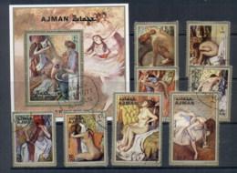 Ajman 1971 Mi#835-842 Paintings By Edgar Degas + MS CTO - Ajman
