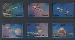 Ajman 1972 Mi#1443-1448 Apollo 11 Plastic Coated 3D (6/8) MUH - Ajman
