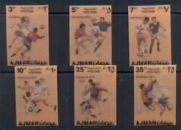 Ajman 1972 Mi#1461-1466 World Cup Soccer Plastic Coated 3D (6/8) MLH - Ajman