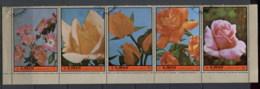 Ajman 1972 Mi#2078-2082 Queen's Roses CTO - Ajman