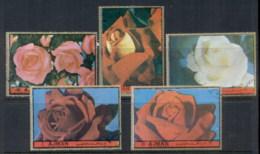 Ajman 1972 Mi#1734-1738 First Lady Roses CTO - Ajman