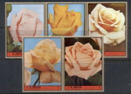 Ajman 1972 Mi#2094-2098 Tender Roses MLH - Ajman