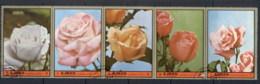 Ajman 1972 Mi#2089-2093 First Prize Roses CTO - Ajman