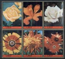 Ajman 1972 Mi#2138-2143 European Flowers MUH - Ajman
