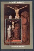Ajman 1972 Mi#MS473A Crucifixion Paintings MS CTO - Ajman