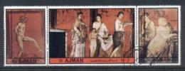 Ajman 1972 Mi#2439-2441 Pompeian Art CTO - Ajman