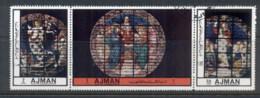 Ajman 1972 Mi#2451-2453 Church Windows CTO - Ajman