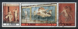 Ajman 1972 Mi#2454-2456 Pompeian Nudes CTO - Ajman