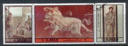 Ajman 1972 Mi#2472-2474 Young Women In Pompeian Art CTO - Ajman