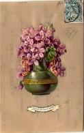 Souhaits De Bonne Année - Carte Celluloïd - Cartes Postales
