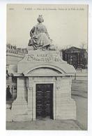 CPA 75 Paris 08 Paris Place De La Concorde Statue De La Ville De Lille - District 08