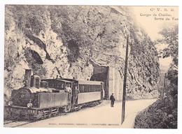 CPM TRAIN Zug VOIR DOS 38 St Laurent Du Pont Gorges De Chailles Locomotive Vapeur Pinguely N°6 - Saint-Laurent-du-Pont