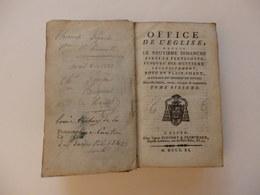"""Livre De 624 P """"l'office De L'église Du Diocèse De Rouen (76)"""" Appartenant à Thomas Pigache De Hénouville (76) En 1822. - Books, Magazines, Comics"""
