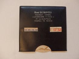 """Disque De Stationnement De René Demontés Assureur-conseil """"La Foncière-T.I.A.R.D"""" 27, Rue Du Jeu De Paume à Valence (46) - Publicité"""