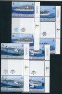 """Pitcairn - Mi.Nr. 876 / 879 Zwischensteg / Gutter-Pair - """"Kreuzfahrtschiffe"""" ** / MNH (aus Dem Jahr 2013) - Pitcairninsel"""