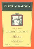 étiquette De Vin Italie Vino Italiano Chianti Classico 2006 Castello D'albola - 75 Cl - Etiketten