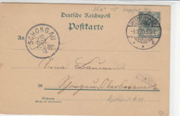Ganzsache Aus BREMERHAVEN 9.10.90 Nach Schongau 10.10.89!! - Covers & Documents