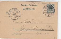 Ganzsache Aus BREMERHAVEN 9.10.90 Nach Schongau 10.10.89!! - Lettres & Documents