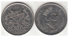 Canada 25 Cents 1999 Km#348 - Used - Canada