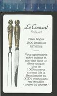 RESTAURANT LE COUVERT BRUXELLES VINS DE FRANCE LES MILLÉSIMES COTÉS ETOILES - 1947 - 1983 - Calendriers
