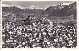 SION VUE D'AVION - 1957 - VS Valais